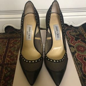 Jimmy Choo Fishnet Heals authentic